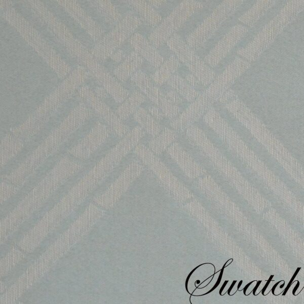Sweet Pea Linens - Light Blue/Green Lattice Jacquard Rectangle Placemats - Set of Two (SKU#: RS2-1002-L23) - Swatch