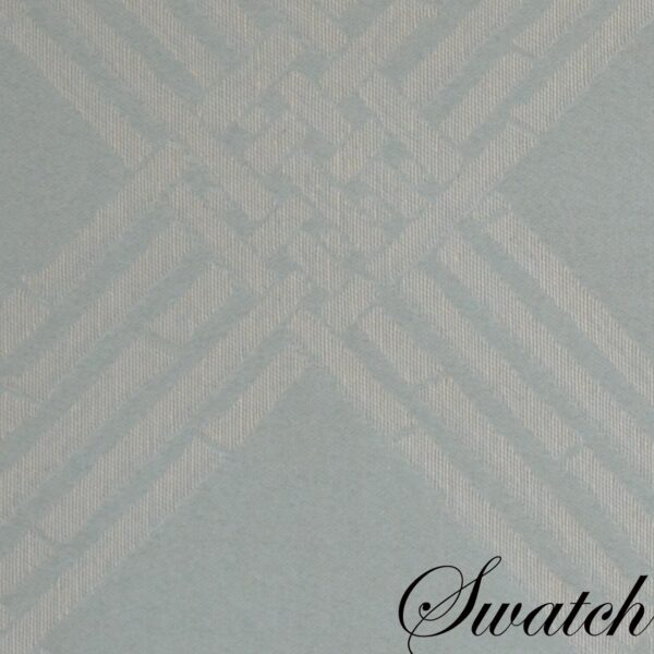 Sweet Pea Linens - Light Blue/Green Lattice Jacquard Wedge-Shaped Placemats - Set of Two (SKU#: RS2-1006-L23) - Swatch