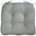Sweet Pea Linens - Light Blue/Green Lattice Jacquard Chair Cushion Pads - Set of Two (SKU#: RS2-1014-L23) - Product Image