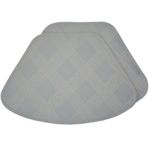 Sweet Pea Linens - Light Blue/Green Lattice Jacquard Wedge-Shaped Placemats - Set of Four plus Center Round-Charger (SKU#: RS5-1006-L23) - Product Image