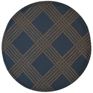 Sweet Pea Linens - Dark Blue Lattice Jacquard Charger-Center Round Placemat (SKU#: R-1015-L24) - Product Image