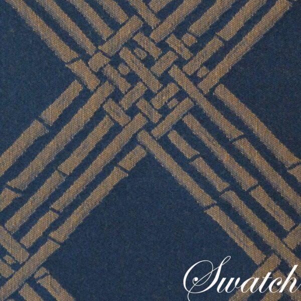 Sweet Pea Linens - Dark Blue Lattice Jacquard 72 inch Table Runner (SKU#: R-1024-L24) - Swatch