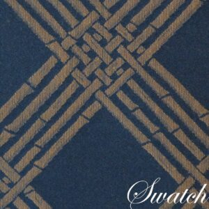 Sweet Pea Linens - Dark Blue Lattice Jacquard Chair Cushion Pads - Set of Two (SKU#: RS2-1014-L24) - Swatch