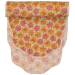 Sweet Pea Linens - Pink & Orange Floral Print 54 inch Table Runner (SKU#: R-1020-M7) - Product Image