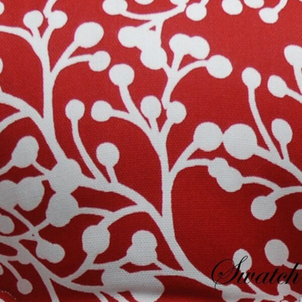 Sweet Pea Linens - Red Vine Print 54 inch Square Table Cloth (SKU#: R-1008-P50) - Swatch