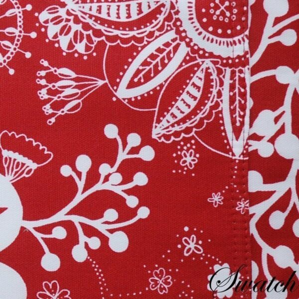Sweet Pea Linens - Red Floral & Vine Print 54 inch Table Runner (SKU#: R-1020-P5) - Swatch