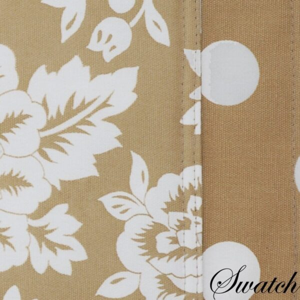 Sweet Pea Linens - Tan Floral Print & Dot 54 inch Table Runner (SKU#: R-1020-P6) - Swatch