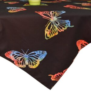 Sweet Pea Linens - Black Butterfly Batik 42 inch Square Table Cloth (SKU#: R-1008-Q26) - Product Image