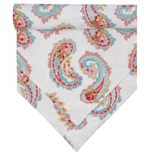 Sweet Pea Linens - White Paisley 54 inch Table Runner (SKU#: R-1020-Q8) - Product Image