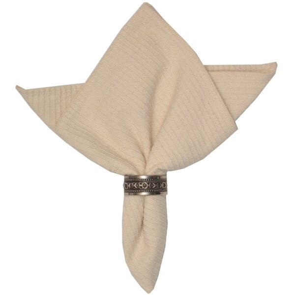 Sweet Pea Linens - Natural Dobby Striped Cloth Napkin (SKU#: R-1010-R10) - Product Image