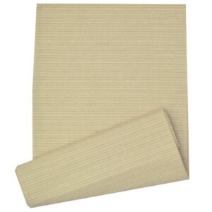 Sweet Pea Linens - Green & Tan Canvas Striped 70 Inch Table Runner (SKU#: R-1023-R4) - Product Image