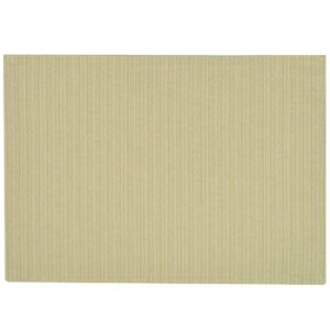 Sweet Pea Linens - Green & Tan Canvas Striped Rectangle Placemats - Set of Two (SKU#: RS2-1002-R4) - Product Image