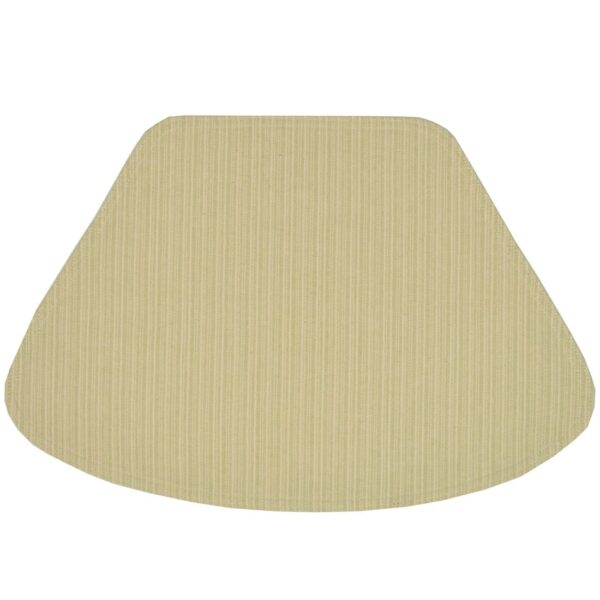 Sweet Pea Linens - Green & Tan Canvas Striped Wedge-Shaped Placemats - Set of Two (SKU#: RS2-1006-R4) - Product Image