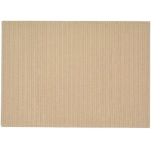 Sweet Pea Linens - Golden Yellow & Tan Canvas Striped Rectangle Placemats - Set of Two (SKU#: RS2-1002-R5) - Product Image