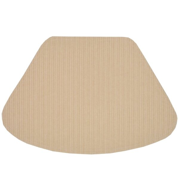 Sweet Pea Linens - Golden Yellow & Tan Canvas Striped Wedge-Shaped Placemats - Set of Two (SKU#: RS2-1006-R5) - Product Image