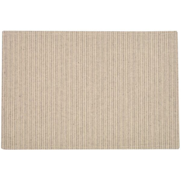 Sweet Pea Linens - Black & Tan Canvas Striped Rectangle Placemats - Set of Two (SKU#: RS2-1002-R6) - Product Image