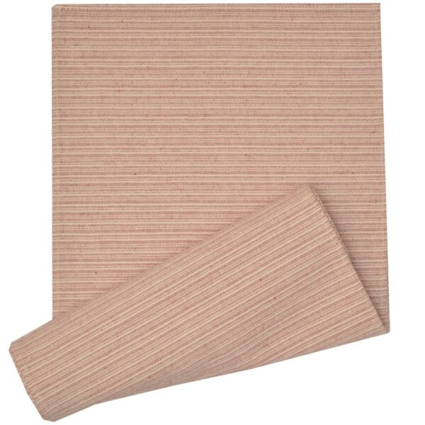 Sweet Pea Linens - Red & Tan Canvas Striped 70 Inch Table Runner (SKU#: R-1023-R8) - Product Image