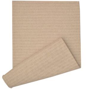 Sweet Pea Linens - Taupe & Tan Canvas Striped 70 Inch Table Runner (SKU#: R-1023-R9) - Product Image