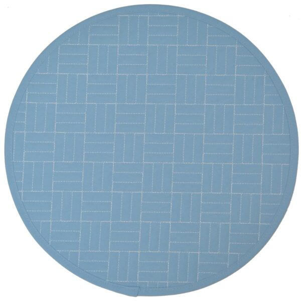 Sweet Pea Linens - Cornflower Blue Quilted Charger-Center Round Placemat (SKU#: R-1015-T2) - Product Image