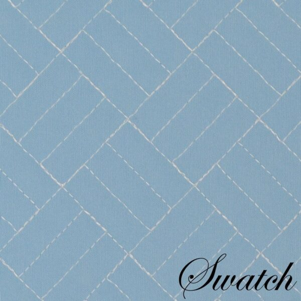 Sweet Pea Linens - Cornflower Blue Quilted Scalloped Wedge-Shaped Placemats - Set of Two (SKU#: RS2-1005-T2) - Swatch