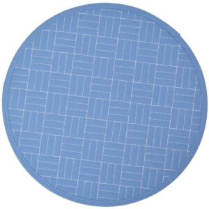 Sweet Pea Linens - Periwinkle Blue Quilted Charger-Center Round Placemat (SKU#: R-1015-T3) - Product Image