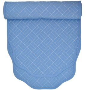 Sweet Pea Linens - Periwinkle Blue Quilted 60 inch Table Runner (SKU#: R-1021-T3) - Product Image