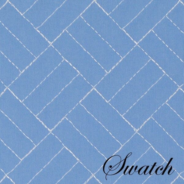 Sweet Pea Linens - Periwinkle Blue Quilted Scalloped Wedge-Shaped Placemats - Set of Two (SKU#: RS2-1005-T3) - Swatch