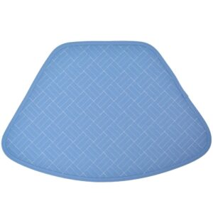Sweet Pea Linens - Periwinkle Blue Quilted Wedge-Shaped Placemats - Set of Two (SKU#: RS2-1006-T3) - Product Image