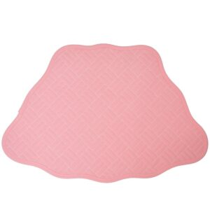 Sweet Pea Linens - Pink Quilted Scalloped Wedge-Shaped Placemats - Set of Two (SKU#: RS2-1005-T4) - Product Image