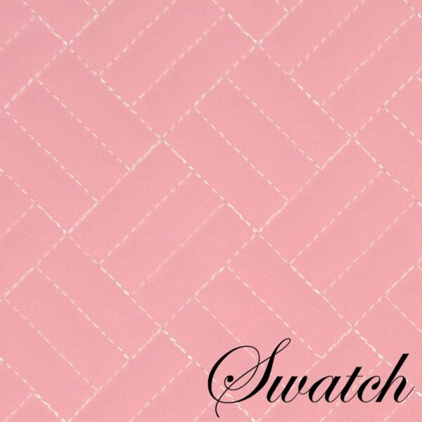 Sweet Pea Linens - Pink Quilted Scalloped Wedge-Shaped Placemats - Set of Two (SKU#: RS2-1005-T4) - Swatch