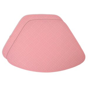 Sweet Pea Linens - Pink Quilted Wedge-Shaped Placemats - Set of Two (SKU#: RS2-1006-T4) - Product Image