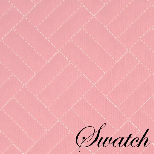 Sweet Pea Linens - Pink Quilted Wedge-Shaped Placemats - Set of Two (SKU#: RS2-1006-T4) - Swatch