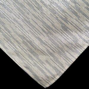 Sweet Pea Linens - Silver & Cream Metallic Striped 54 inch Square Table Cloth (SKU#: R-1008-U10) - Product Image