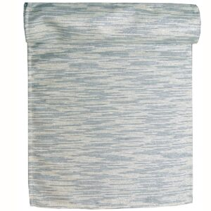Sweet Pea Linens - Silver & Cream Metallic Striped 108 Inch Table Runner (SKU#: R-1022-U10) - Product Image
