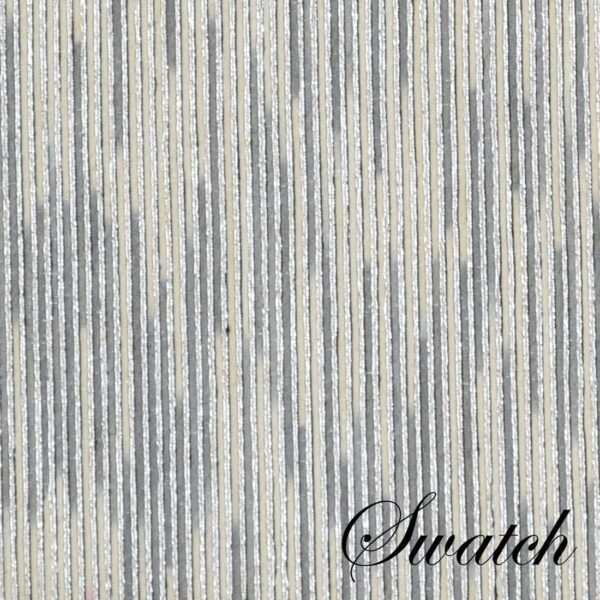 Sweet Pea Linens - Silver & Cream Metallic Striped Rectangle Placemats - Set of Two (SKU#: RS2-1002-U10) - Swatch