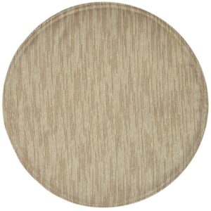 Sweet Pea Linens - Gold & Cream Metallic Striped Charger-Center Round Placemat (SKU#: R-1015-U11) - Product Image