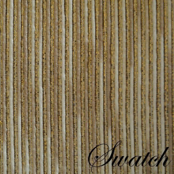 Sweet Pea Linens - Gold & Cream Metallic Striped Charger-Center Round Placemat (SKU#: R-1015-U11) - Swatch