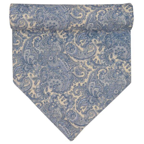 Sweet Pea Linens - Blue Paisley Print 54 inch Table Runner (SKU#: R-1020-U2) - Product Image