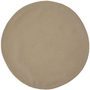 Sweet Pea Linens - Beige Crypton Twill Charger-Center Round Placemat (SKU#: R-1015-U6) - Product Image