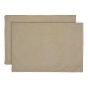 Sweet Pea Linens - Beige Crypton Twill Rectangle Placemats - Set of Two (SKU#: RS2-1002-U6) - Product Image
