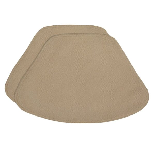 Sweet Pea Linens - Beige Crypton Twill Wedge-Shaped Placemats - Set of Two (SKU#: RS2-1006-U6) - Product Image