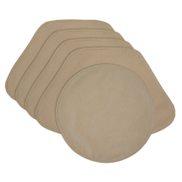 Sweet Pea Linens - Beige Crypton Twill Wedge-Shaped Placemats - Set of Four plus Center Round-Charger (SKU#: RS5-1006-U6) - Product Image