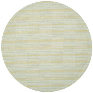 Sweet Pea Linens - Pale Blue Check Textured Charger-Center Round Placemat (SKU#: R-1015-U7) - Product Image