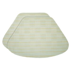Sweet Pea Linens - Pale Blue Check Textured Wedge-Shaped Placemats - Set of Two (SKU#: RS2-1006-U7) - Product Image