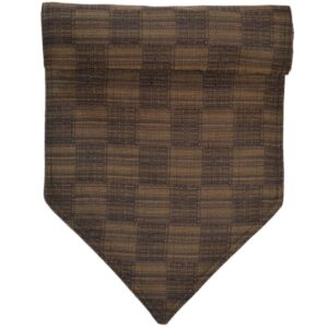 Sweet Pea Linens - Brown Check Textured 54 inch Table Runner (SKU#: R-1020-U8) - Product Image