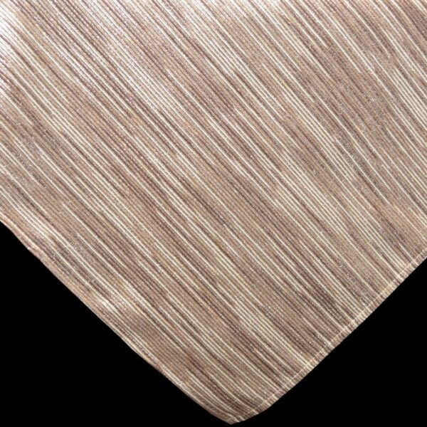 Sweet Pea Linens - Brown & Cream with Silver Metallic Striped 54 inch Square Table Cloth (SKU#: R-1008-U9) - Product Image