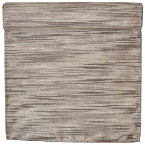 Sweet Pea Linens - Brown & Cream with Silver Metallic Striped 72 inch Table Runner (SKU#: R-1024-U9) - Product Image