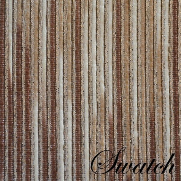 Sweet Pea Linens - Brown & Cream with Silver Metallic Striped Rectangle Placemats - Set of Two (SKU#: RS2-1002-U9) - Swatch