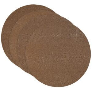 Sweet Pea Linens - Brown & Tan Dot Vinyl Wipe Clean Charger-Center Round Placemat - Set of Four (SKU#: RS4-1015-V2) - Product Image