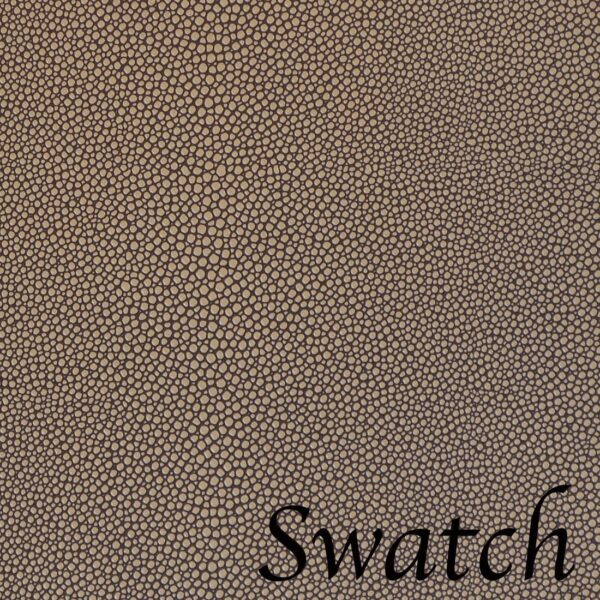 Sweet Pea Linens - Brown & Tan Dot Vinyl Wipe Clean Charger-Center Round Placemat - Set of Four (SKU#: RS4-1015-V2) - Swatch